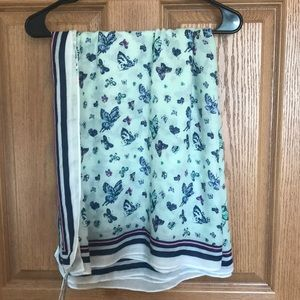 NWT Butterfly print scarf